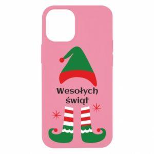 Etui na iPhone 12 Mini Wesołych Świąt Elf