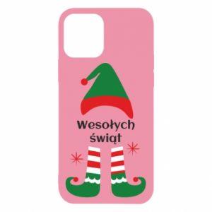 Etui na iPhone 12/12 Pro Wesołych Świąt Elf