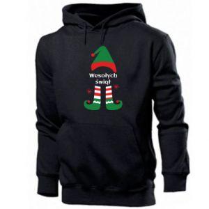 Men's hoodie Happy Holidays Elf