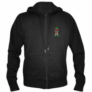 Men's zip up hoodie Happy Holidays Elf