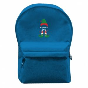 Backpack with front pocket Happy Holidays Elf