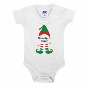 Baby bodysuit Happy Holidays Elf
