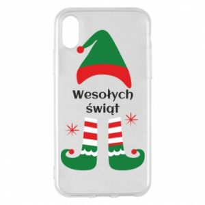 Phone case for iPhone X/Xs Happy Holidays Elf