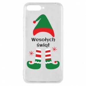Phone case for Huawei Y6 2018 Happy Holidays Elf