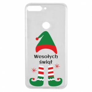 Phone case for Huawei Y7 Prime 2018 Happy Holidays Elf