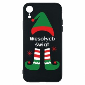 Phone case for iPhone XR Happy Holidays Elf