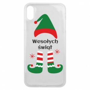 Phone case for iPhone Xs Max Happy Holidays Elf