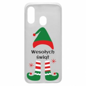Phone case for Samsung A40 Happy Holidays Elf