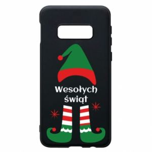 Phone case for Samsung S10e Happy Holidays Elf