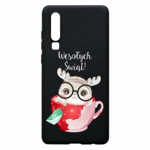 Huawei P30 Case happy holidays deer