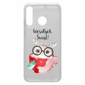 Huawei P30 Lite Case happy holidays deer