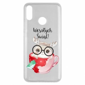 Huawei Y9 2019 Case happy holidays deer