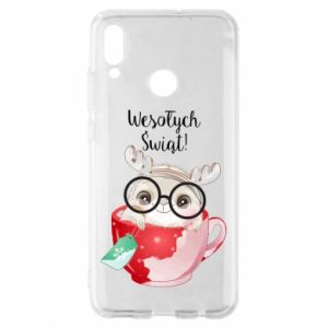 Huawei P Smart 2019 Case happy holidays deer