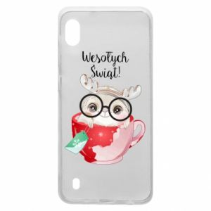 Samsung A10 Case happy holidays deer