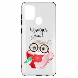 Samsung A21s Case happy holidays deer