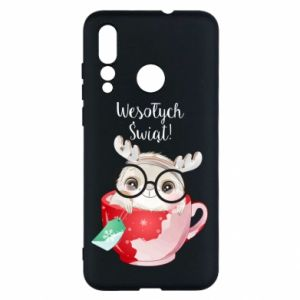 Huawei Nova 4 Case happy holidays deer