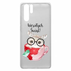 Huawei P30 Pro Case happy holidays deer