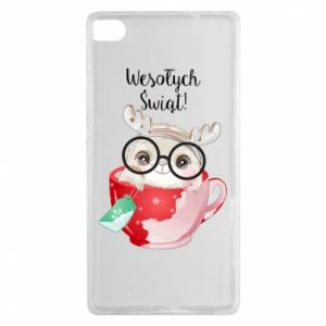 Huawei P8 Case happy holidays deer