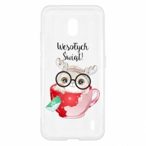 Nokia 2.2 Case happy holidays deer