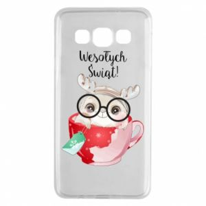 Samsung A3 2015 Case happy holidays deer