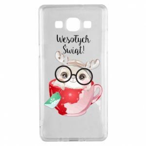 Samsung A5 2015 Case happy holidays deer