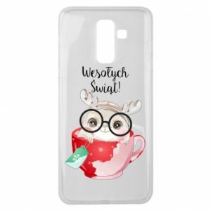 Samsung J8 2018 Case happy holidays deer