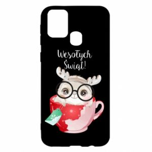 Samsung M31 Case happy holidays deer