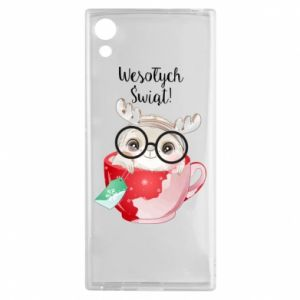 Sony Xperia XA1 Case happy holidays deer