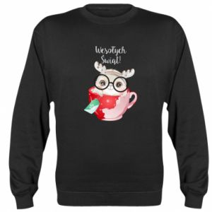 Sweatshirt happy holidays deer