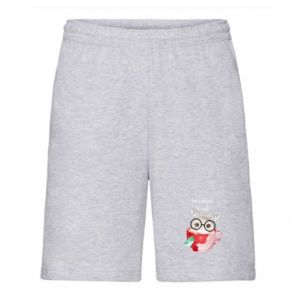 Men's shorts happy holidays deer