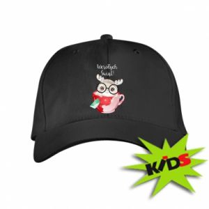 Kids' cap happy holidays deer