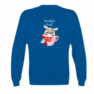 Kid's sweatshirt happy holidays deer