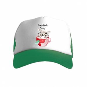 Kid's Trucker Hat happy holidays deer