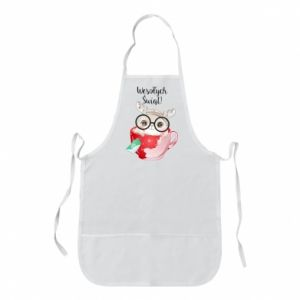 Apron happy holidays deer