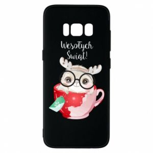 Samsung S8 Case happy holidays deer