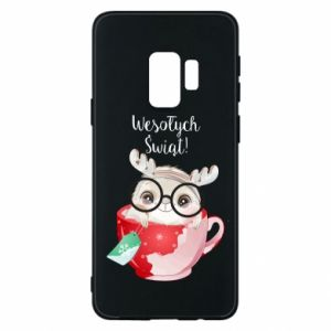 Samsung S9 Case happy holidays deer
