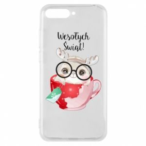 Huawei Y6 2018 Case happy holidays deer