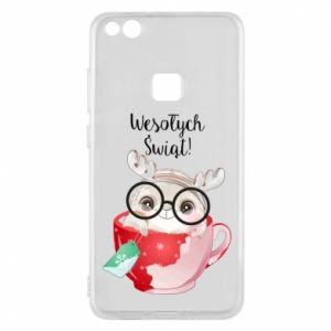 Huawei P10 Lite Case happy holidays deer