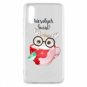 Huawei P20 Case happy holidays deer