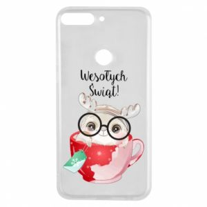 Huawei Y7 Prime 2018 Case happy holidays deer