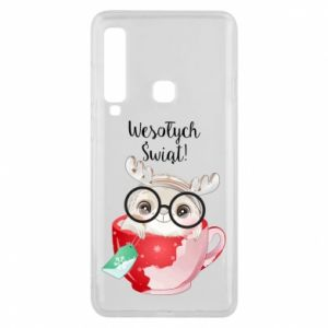 Samsung A9 2018 Case happy holidays deer