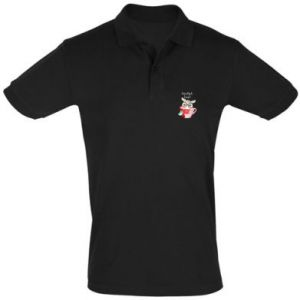 Men's Polo shirt happy holidays deer