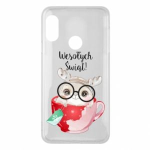 Mi A2 Lite Case happy holidays deer