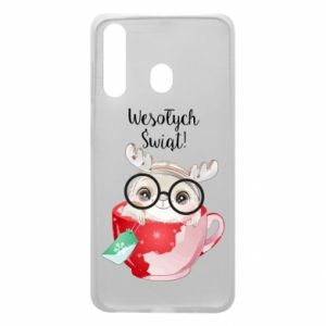 Samsung A60 Case happy holidays deer