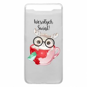 Samsung A80 Case happy holidays deer