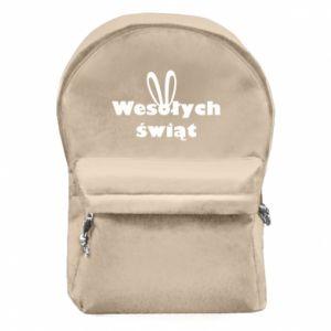 Plecak z przednią kieszenią Wesołych Świąt, królicze uszy