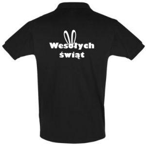 Koszulka Polo Wesołych Świąt, królicze uszy