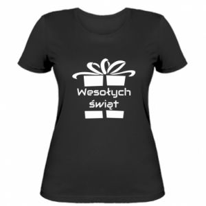 Women's t-shirt Happy holidays gift