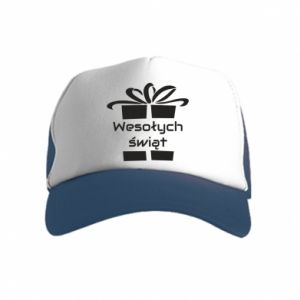 Kid's Trucker Hat Happy holidays gift