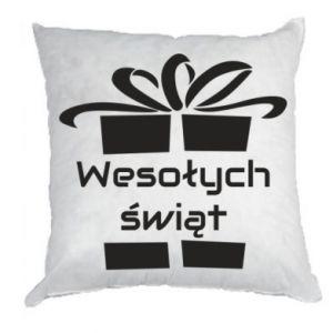Poduszka Wesołych świąt prezent